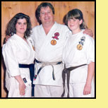Sensei Don Warrener with daughters Tracy and Danielle