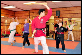 Weapons classes at Don Warreners Martial Arts Academy