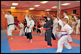 Weapons at Don Warreners Martial Arts Academy